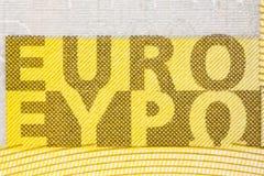 Un euro segno della banconota duecento Immagine Stock