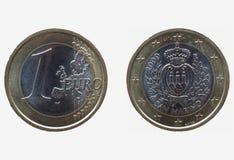 Un euro y x28; EUR& x29; moneda de San Marino Imagen de archivo libre de regalías