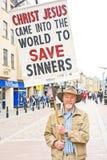 Un evangelista en Inverness. Imágenes de archivo libres de regalías