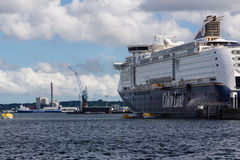 Un exercice de délivrance de mer sur Kiel Fjord, Kiel, Allemagne Images stock