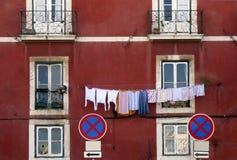Un exterior de la casa vieja de Lisboa Fotografía de archivo