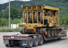 Un extracteur de câble dans le Yukon Images libres de droits