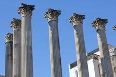 un för de romanas ruinastemplo Royaltyfri Foto