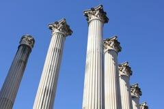 un för de romanas ruinastemplo Arkivfoto