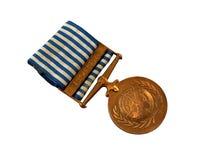 un för korea medaljpeacekeeping Arkivbilder