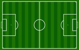 Un fútbol realista de la hierba Foto de archivo