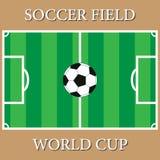 Un fútbol realista de la hierba Foto de archivo libre de regalías