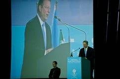 un för toppmöte för alklimatlevrat blod talande Royaltyfri Fotografi