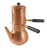 Fabricante de café de cobre italiano Fotografía de archivo