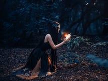 Un fabuleux ; nymphe Gyana de forêt images libres de droits