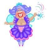 Un fairy grasso divertente illustrazione di stock