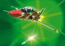 Un falco stilizzato, infornante un missile fotografie stock