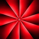 Un fan rosso su buio Immagine Stock