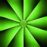 Un fan verde su fondo scuro Fotografia Stock Libera da Diritti