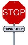 Fermata: Pensi la sicurezza fotografia stock libera da diritti