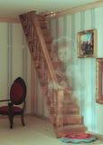 Un fantasma en la casa de muñecas Fotografía de archivo libre de regalías