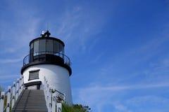 Un faro della Maine Fotografia Stock Libera da Diritti