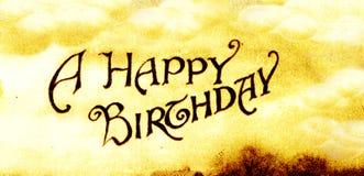 Un feliz cumpleaños Fotografía de archivo libre de regalías