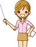 Un femme avec un bâton Photographie stock libre de droits