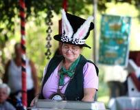 Un femme dans un chapeau de lapin Photographie stock libre de droits