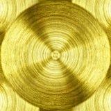 Un fer d'or en métal avec le fond circulaire de texture photographie stock libre de droits