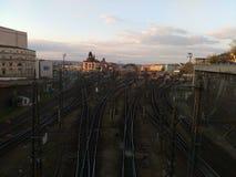 Un ferrocarril Fotografía de archivo libre de regalías