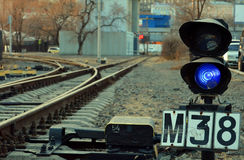 Un ferrocarril ligero Fotos de archivo