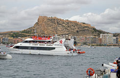 Un ferry-boat utilisé pour le visionnement Photo stock