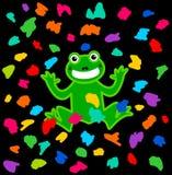 Un festival de la rana debajo de una ducha del color Fotos de archivo libres de regalías