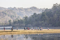 Un festival di 7 laghi fotografia stock