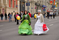 Un festival en Moscú Imágenes de archivo libres de regalías