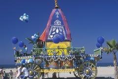 Un festival indio de carros en Santa Monica California Imagenes de archivo
