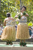 un fijian del 1601 danzatore Immagine Stock
