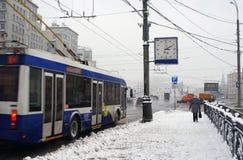Bufera di neve a Mosca Fotografia Stock Libera da Diritti