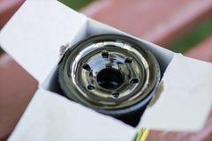 Un filtre d'huile usagée pour la voiture Pièces de rechange pour un combu interne photo stock