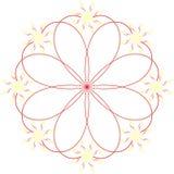 Un fiore astratto Fotografie Stock Libere da Diritti