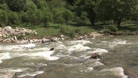 Un fiume in Bulgaria stock footage