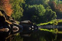Un fiume del tipo di specchio Immagini Stock