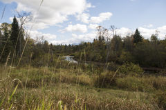 Un fiume passa Fotografia Stock Libera da Diritti
