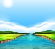 Un fiume scorrente Immagine Stock