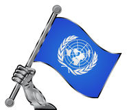 UN flag Royalty Free Stock Image