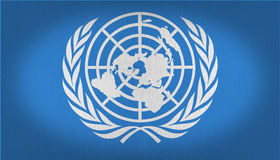 UN flag Royalty Free Stock Photography