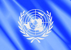 Un flag. United nations flag with textures Stock Image