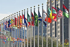 UN Flags royalty free stock images