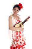 Guitare de Flamenca Photos stock
