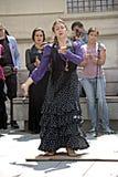 Un flamenco di dancing di signora su una mattina soleggiata 1 Fotografia Stock