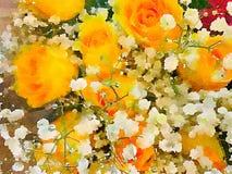 Un florero hermoso de flores Imagen de archivo
