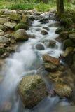 Un flot/crique avec les eaux circulantes et la roche rêveuses Photos stock