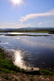 Un flusso del fiume pacificamente Fotografie Stock Libere da Diritti