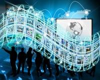 Un flux continu d'information Photos libres de droits